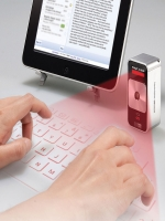 Clavier QWERTY Infrarouge & Bluetooth Argent Image 1