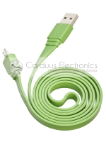 Cables Plat USB / Micro USB Vert Image 1